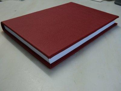 Rood leren notitieboek a4