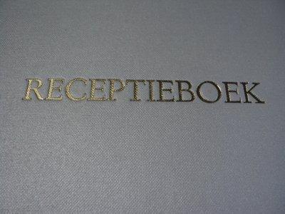 Wit gastenboek receptie boek