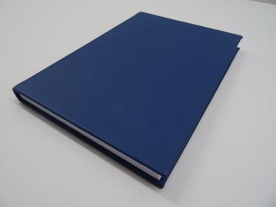 Blauw lederen notitieboek a4
