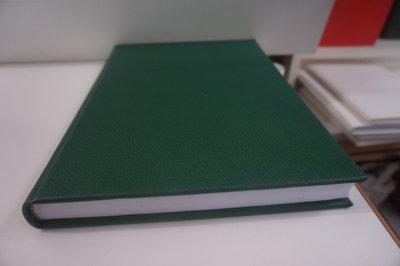 Groen lederen dummy boek